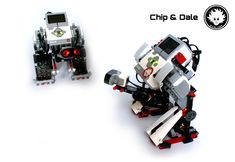 Chip and Dale are twin LEGO MINDSTORMS mecha. Lego Mindstorms, Chip And Dale, Robotics, Kid Stuff, Kids, Children, Boys, Babies