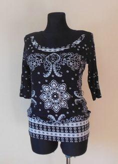 Kup mój przedmiot na #vintedpl http://www.vinted.pl/damska-odziez/bluzki-z-3-slash-4-rekawami/16849354-next-bluzka-tunika-czarna-biala-40