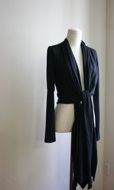 Organic Bamboo Black or Gray Infinity Wrap Sweater by SevenBlooms, $95.00