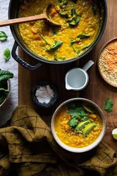 Organic Recipes, Indian Food Recipes, Diet Recipes, Healthy Recipes, Ethnic Recipes, Easy Vegetarian Dinner, Dhal, Foodies, Curry