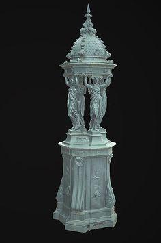 Paire de fontaines Wallace époque 1880