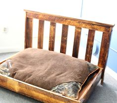 Rustic Wood Dog Bed