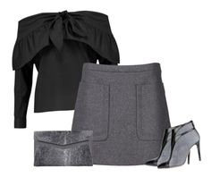 """greys"" by bodangela ❤ liked on Polyvore featuring W118 by Walter Baker, N°21, Francesca Mambrini and J. Mendel"