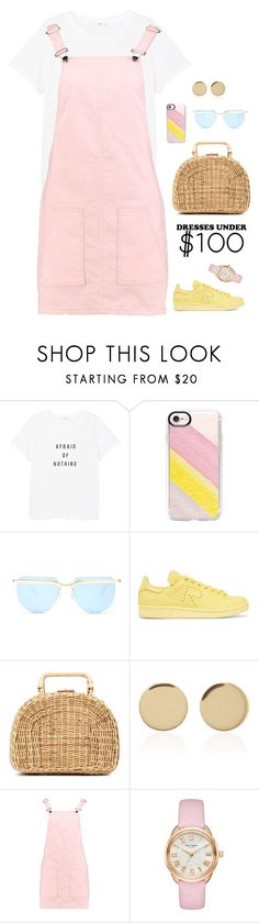 """Pink & Yellow"" by anetacerna on Polyvore featuring MANGO, Casetify, Le Specs, adidas Originals, Kayu, Magdalena Frackowiak, Boohoo and Kate Spade"