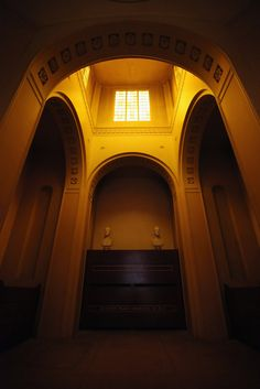 The interior of the mausoleum in Dulwich Picture Gallery, which celebrates its bicentenary this year, where the gallery's founders are interred on January 4, 2011 in London, England. Dulwich Picture Gallery is England's first public art gallery, founded in 1811 by Sir Francis Bourgeois who bequeathed his collection of old master paintings for the inspection of the public.
