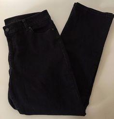 Talbots Black Curvy Straight Women's Jeans EUC Sz 14P - 136 #Talbots #StraightLeg