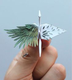 Working on his self-initiated project for almost 3 years, origami enthusiast Cristian Marianciuc challenged himself to create a new decorative paper crane every day for… Origami Design, Diy Origami, Origami Paper Art, Useful Origami, Paper Crafting, Origami Cranes, Origami Folding, Paper Folding, Origami Boxes