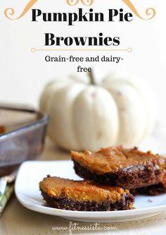 Pumpkin pie brownies (grain-free, dairy-free)