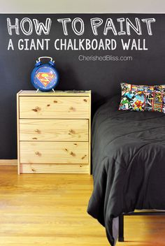 How to Paint a GIANT Chalkboard Wall - Cherished Bliss