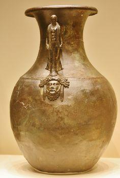 Storage Jar with a female figure, Roman from Campania, 50-1 BC, Getty Villa, Malibu, Dec. 2012