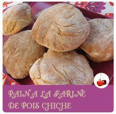 Le pain à la farine de pois chiche, facile à réaliser maison. Et pour varier les plaisirs du pain jouer avec les farines :-)