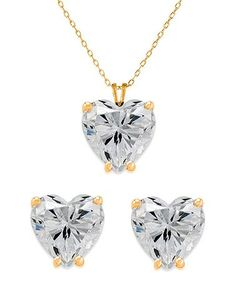 Love this Gold Heart Necklace & Earrings With Swarovski® Crystals on #zulily! #zulilyfinds