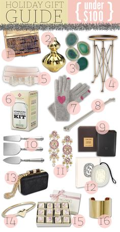 Holiday Gift Guide – Under $100    Best gift list I've seen yet. (tho it does feature a $70 tea....weird... but mm mm I trust someone who knows Tom Ford candles!)