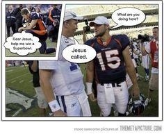 Tim Tebow and Peyton Manning humor funny-stuff