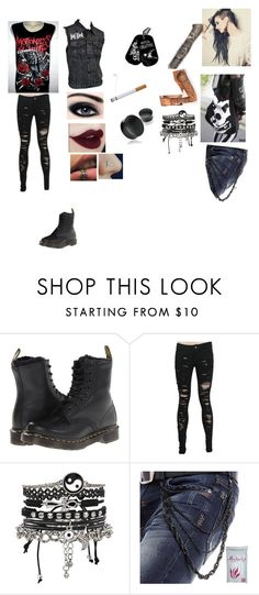 """""""Motionless In White"""" by ravenwood44 ❤ liked on Polyvore featuring Dr. Martens, WWE, Disney and ASOS"""