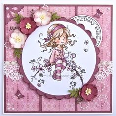 The Hobby House Wee Stamps - Sweet Blossom Die-Cut Card Toppers @ The Hobby House Kids Cards, Baby Cards, Sweet Blossom, Hobby House, Girl Birthday Cards, Whimsy Stamps, Beautiful Handmade Cards, Tampons, Copics