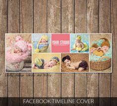 Free Service Add-on Facebook timeline cover template photo collage - Photoshop Template Instant Download FFCC306 by SasiDesignTemplates on Etsy
