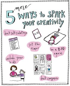 Here are 5 MORE ways to Spark Your Creativity, written after my first article resonated with so many of my readers. Creative Thinking, Creative Ideas, Artist Quotes, Working With Children, Art Tips, Self Improvement, Are You Happy, Art Projects, Little Girls