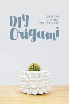 SO EASY & SO CA-UTE!  This Origami Fortune Teller project will teach you how to make a stunning and unique visual element for your Wedding Décor.  #wedding #weddingDIY #DIY #DIYOrigami #origami #décor #weddingdécor #budgetwedding #interior