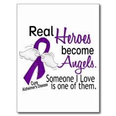 alzheimers awareness | Heroes Become Angels Alzheimer's Disease Post Cards