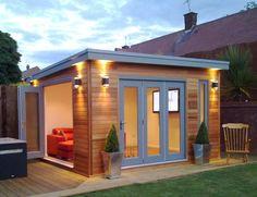 Nice 55 Cool DIY Backyard Studio Shed Remodel Design & Decor Ideas homevialand. Shed Office, Backyard Office, Backyard Studio, Backyard Sheds, Outdoor Office, Small Garden Office, Office Kit, Office Pool, Garage Office