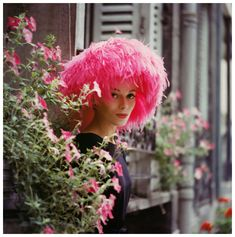 Feather hat, Paris 1960 photo by Mark Shaw