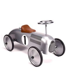 Super sleek ride on toy for toddlers and preschool/early elementary age! 40 percent off sale (my kids need this!) Schylling Silver Vintage Speedster