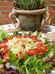 Tomato, Arugula (Rocket) & Parmesan Salad