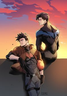 Jason and Dick || Red Hood and Nightwing || Batboys || Jason Todd and Richard Dick Grayson || Robins