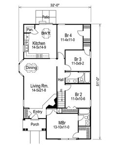 Superior Great Small Floor Plan: 1 Fl, 2 Full Baths, 4 Bedrooms (including