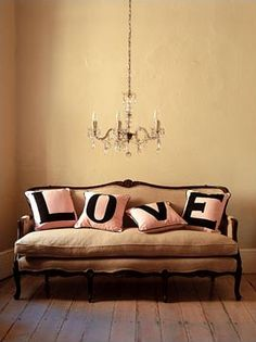 love pillows..  Girls room? But in different colors?