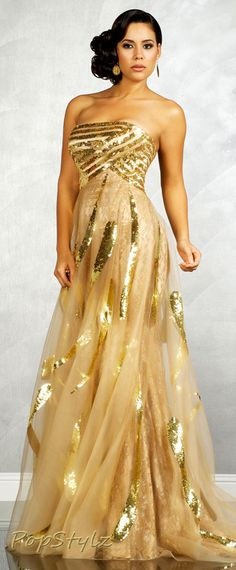 I don't like or wear dresses, but this one is BEAUTIFUL!! MNM Golden Couture Gown