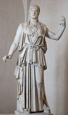 Athena Parthenos, by Antiochos, 1c BC, marble, Palazzo Altieri, Roma