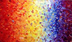 Learn to paint #abstractart like this example by #artist Glenn Farquhar using artist #acrylic paints. Colours used red, mid yellow, titanium white phalo blue. www.artfusionproductions.com.au
