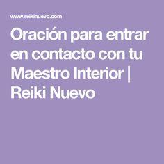 Oración para entrar en contacto con tu Maestro Interior | Reiki Nuevo