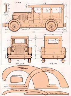 #414 Woody Wagon Plans - Wooden Toy Plans #woodworkingideas