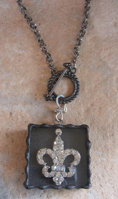 Labor Day Giveaway going on (this fun soldered Fleur De Lis box pendant/necklace up for grabs!)....head to Facebook and sign in to win...Jazzy Jewelry by Nanette!