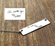 Handwriting Necklace Outfits, Outfit Ideas, Outfit Accessories, Cute Accessories