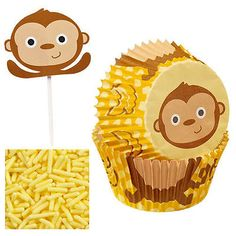 Wilton monkey #cupcake #decorating kit #colourful children birthday party baking,  View more on the LINK: http://www.zeppy.io/product/gb/2/401126857029/