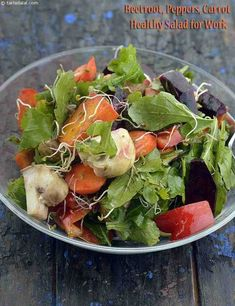 Beetroot, Peppers, Carrot Healthy Salad for Work recipe Chicken And Shrimp Recipes, Pasta Recipes, Cooking Recipes, Healthy Salad Recipes, Healthy Snacks, Protein Snacks, High Protein, Low Calorie Salad, Carrots Healthy
