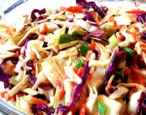 Korean cabbage salad-this is so yummy and refreshing; perfect as an accompaniment to Korean grilled meat or as a lighter alterntive to coleslaw.