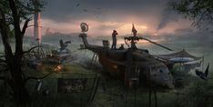 ArtStation - Evening, Yaroslav Odnorogov. #postapocalyptic #Art #gosstudio .★ We recommend Gift Shop: http://www.zazzle.com/vintagestylestudio ★