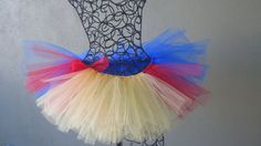 Running Tutu  Snow White Pixie Length 9 inches by LuckyNumberTutu, $35.00