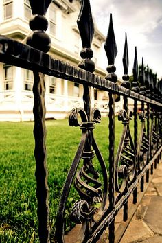 very traditional iron fence