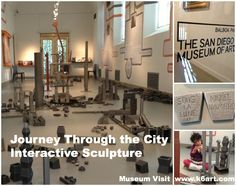 Miquel Navarro's 'Journey Through the City' Interactive Sculpture exhibit at the San Diego Museum of Art.