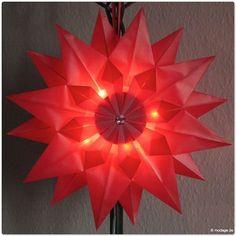 Strahlend leuchtende Faltsterne – DIY