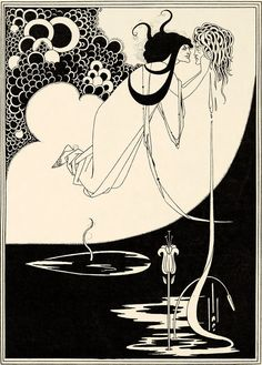 Inch Print - High quality print (other products available) - WILDE: SALOME.& Pen and ink drawing by Aubrey Beardsley for Oscar Wilde& & - Image supplied by Granger Art on Demand - Photo Print made in the USA Art Nouveau, Art Deco, Tag Art, Aubrey Beardsley, Art Terms, Tate Britain, Ink Pen Drawings, Black And White Drawing, Design Graphique