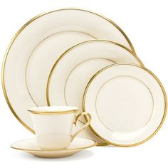 Lenox Eternal 5-Piece Place Setting (985 CNY) ❤ liked on Polyvore featuring home, kitchen & dining, dinnerware, china, lenox dinnerware, lenox fine china, ivory china, cream dinnerware and lenox