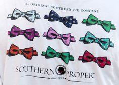 Southern Proper Bowtie Tee ***  MEDIUM