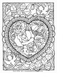 Coloring Flowers with Copics Beautiful Coloring Books Hard Coloring Pages for Adults Incredibles Abstract Coloring Pages, Spring Coloring Pages, Heart Coloring Pages, Adult Coloring Book Pages, Printable Adult Coloring Pages, Mandala Coloring Pages, Animal Coloring Pages, Coloring Pages To Print, Coloring Books